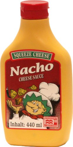 Old Fashioned Foods Nacho Squeeze Cheese Microwaveable, 4er Pack (4x 440 ml)