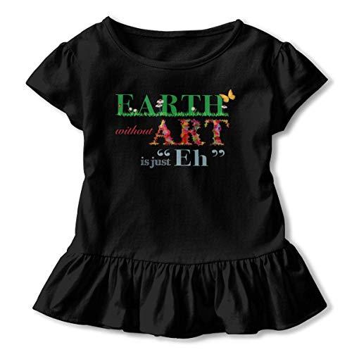 Manga Corta para niñas Earth Without Art is Eh Funny T Manga Corta para niños Ropa de Escalada para bebés Unisex Monos Mameluco Manga Corta Onesies Ligeros Negro