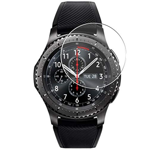 Vaxson 3 Unidades Protector de Pantalla, compatible con Samsung Gear S3 Frontier [No Vidrio Templado] TPU Película Protectora Reloj Inteligente Film Guard Nueva versión
