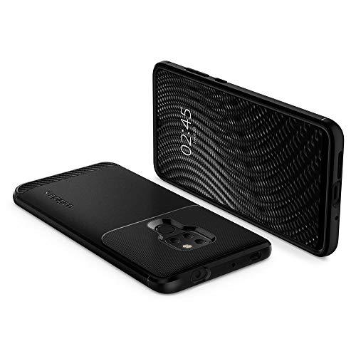 Armorhülle für Huawei Mate 20 Hülle Robuste TPU Silikon Schutzhülle Stylisch Karbon Design Handyhülle Case – Schwarz - 2