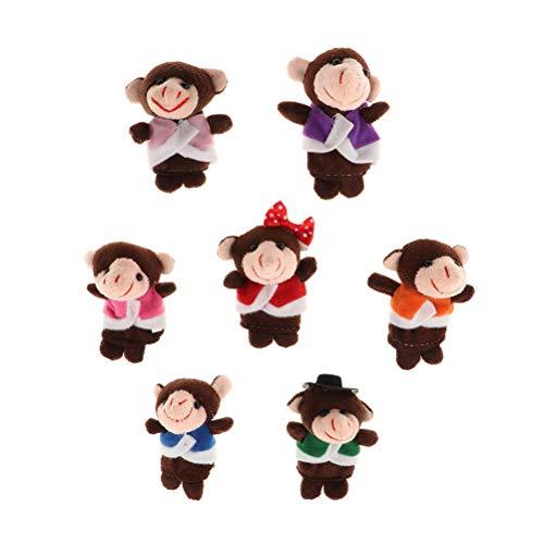 fansheng Mono bebé dedo marioneta juguetes, 7 unids/set padre-hijo juego interactivo juguetes lindo animal educativo historia juguetes regalo
