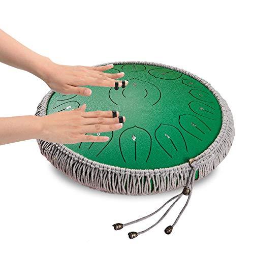 Steel Tongue Drum, 14 Pulgadas Y 15 Notas Chakra Tank Drum, Instrumento De Percusión Lotus Hand Pan Drum, C-Key Handpan Drum con Bolsa, para Educación Musical Concierto Mind Healing Yoga