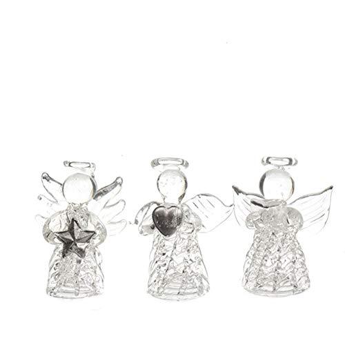 Engel Glas Glasengel 3er Set Tischdeko