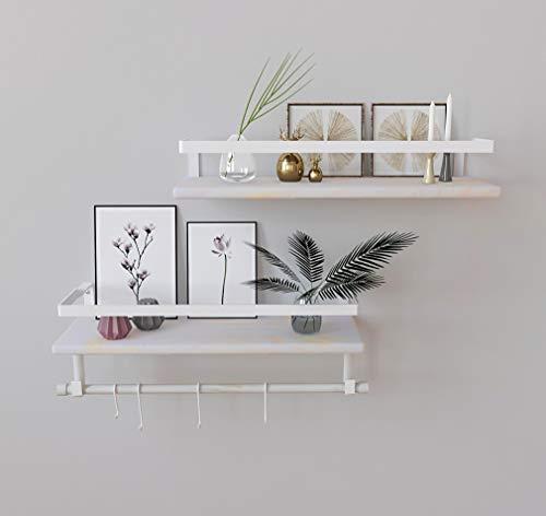 Kaliza White Bathroom Shelves, Bathroom Shelf White, White Bathroom Shelf, Wall Mounted White Shelves