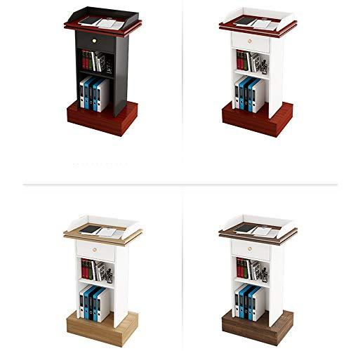 DLSMB Podium Klassenlehrer Einfache Moderne Lecture Tabelle Podium Tisch Kirche, Schule oder Universität Rednerpult (Color : Light Walnut+warm White, Size : One Size)