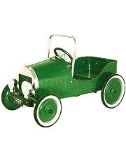 CAPRILO Coche a Pedales Antiguo Verde. Infantil. Juguete Metal. 90x45x55 cm.