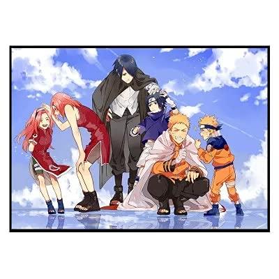 JHGJHK Anime japonés Naruto Naruto Manga Personaje Pintura al óleo Anime Fan Room Decoración del Dormitorio Pintura Acción 5