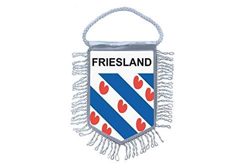 Akachafactory Mini banner vlag pennant venster spiegel auto's land banner Oost-Friese