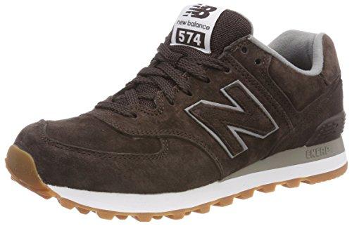 New Balance 574, Sneaker a Collo Basso Uomo, Marrone (Brown Full ...