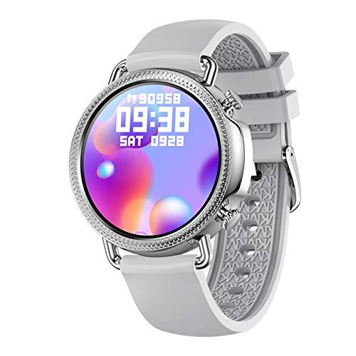 ZYDZ Smart Watch V25 Redonda De Alta Definición De Alta Definición Pantalla Completa Toque Tarifa Cardíaca Presión Arterial Música Información De La Foto Función Smart Watch para Android iOS,F