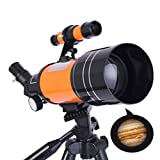 HLL Professional Zoom Astronomical Telescope with Tripod Outdoor HD Night Vision 150X Refractive...