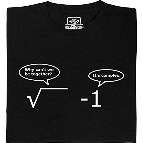 It is Complex - Geek Shirt für Computerfreaks aus fair gehandelter Bio-Baumwolle, Größe L