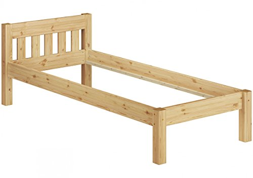 Erst-Holz® Kinderbett kurzes Bett 90x190 Massivholz Kiefer Natur Bettgestell ohne Zubehör 60.38-09-190 oR