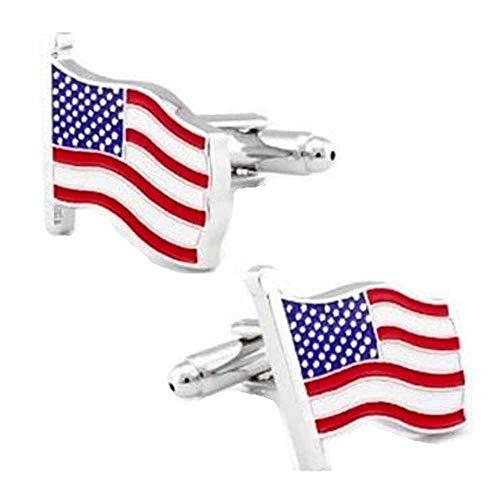 korpikus®' USA-Flagge ' Stars & Stripes Theme Edelstahl-Manschettenknöpfe In Kostenlose Geschenktüte