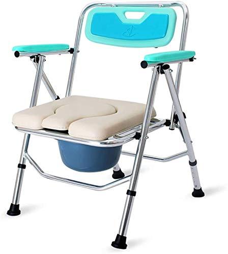 HMMN Potty Ajustable de Pliegue, Silla de comisera portátil, Silla de Ducha para Personas con discapacidades de Edad Avanzada Hospital
