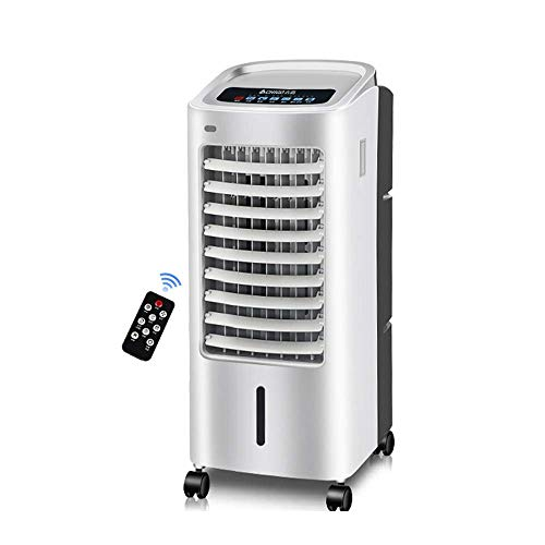 Air Conditioner, Mobile, Without Hose Portable Air Cooler with Remote Control and LED Display, 3 Speeds with Oscillating Function, 8 Hour Timer and 5.5 Liter Water Tank for Home Or Office Use