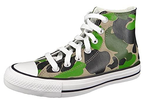 Converse Zapatillas altas Chuck Taylor All Star Camo HI 166714C para mujer, multicolor, multicolor, 42.5 EU