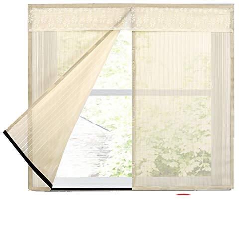 Zanzariera magnetica per finestra fai da te, in poliestere resistente, adesivo magico anti-zanzare, zanzariera, zanzariera, zanzariera, 150 x 160 cm