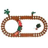 TOYANDONA 1 Juego de Tren Eléctrico Tren de Navidad para Niños Cumpleaños de Navidad Año Nuevo Fiesta Jardín de Infantes Mesa Chimenea Estante Decoración