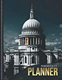 Productivity Planner: St Paul s Cathedral - London England UK Europe Art Photo / Undated Weekly Organizer / 52-Week Life Journal With To Do List - ... Calendar / Large Time Management Agenda Gift