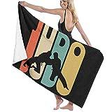 65469longshuo Vintage Style Judo Silhouette Bath/Pool/Beach Towel - Super Soft & Absorbent...