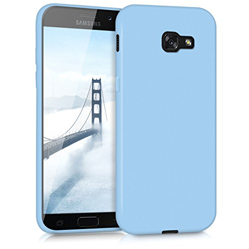 kwmobile Funda Compatible con Samsung Galaxy A5 (2017) - Carcasa de TPU Silicona - Protector Trasero en Azul Claro Mate