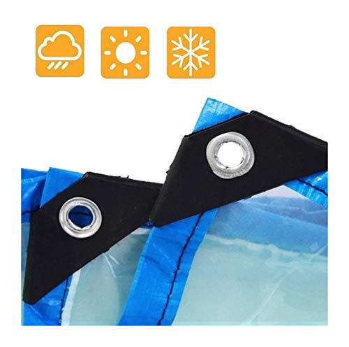 Lona Impermeable de plástico Transparente PE Lluvia Tela, Invernadero Grueso Parasol Protector Solar Lona Camión Lona Exterior Flower House Toldo Clear Tarpaulin (Color : Clear, Size : 3x9m)