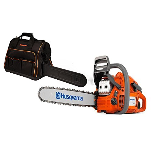 Find Bargain Rotary Husqvarna 450 Chainsaw (50cc) Kit with 18 Bar/Chain Plus (1) WoodlandPRO Chains...
