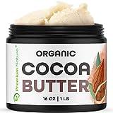 Organic Pure Raw Cocoa Butter - 16 oz Unrefined Natural...