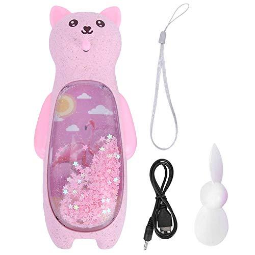 Summer Cooler Ventilador de Mano Recargable USB Ventilador de Dibujos Animados, Ventilador Recargable USB, Noche Duradera y Resistente para niños y niñas(Pink)