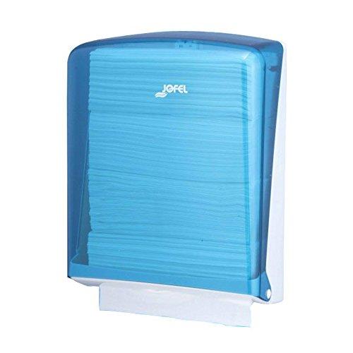 Jofel AH34200 Azur Dispensador de Toallas de Manos, Zig-Zag, Azul