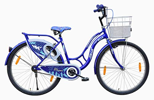 """Stryder Elly MTB Model- Ladies Speed Bicycle Full Heavy Tyre Road Bike, Age Preference- 12 + Years Old, Person Height- 5 to 6 Feet, Cycle Size- 26"""" Inches, Colour- Blue, Uninstalled"""