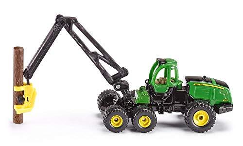 siku 1652, Procesadora John Deere Harvester, Silvicultura, Metal/Plástico, 1:87, Verde, Incl. tronco, Grúa giratoria