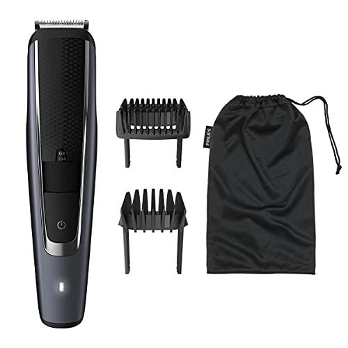 Philips BT5502/15 BEARDTRIMMER Series 5000 - cortadora de pelo y maquinilla Recargable - Afeitadora (0,4 mm, 2 cm, 90 min, Batería integrada, AC/Batería), Negro
