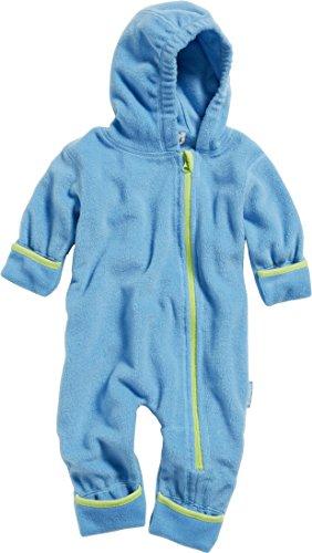 Playshoes GmbH Playshoes Unisex Baby Fleece-Overall Farblich Abgesetzt, Blau (Aquablau 23), 62