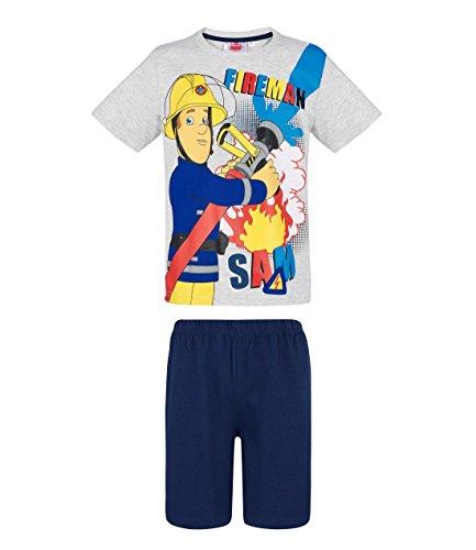 Feuerwehrmann Sam Jungen Shorty-Pyjama - grau - 104