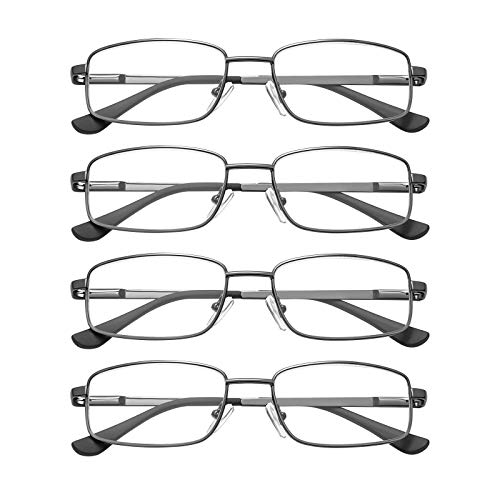 EFE Reading Glasses 4 Pack - Mens Durable Computer Book Phone Reading...