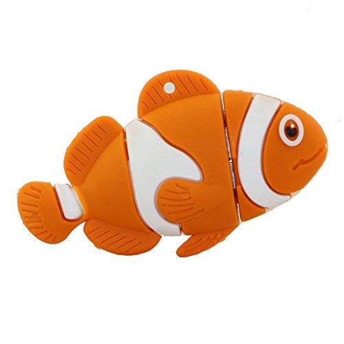 16GB pesce arancione modello usb flash drive usb pendrive pen drive usb di memoria esterna pollice stick usb memory card
