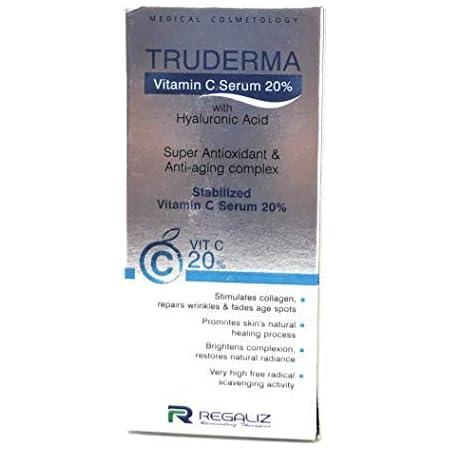 Truderma Vitamin C Serum to Repair Wrinkles, Transparent, 20 ml