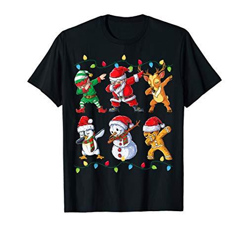 Dabbing Weihnachtsmann Santa Elf Weihnachten Christmas Xmas T-Shirt