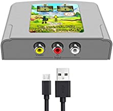 RCA to HDMI Adapter AV to HDMI Video Audio Converter Box support 16:9/4:3 conversion work for VHS VCR N64 PS1 PS2 Wii