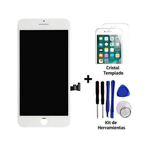 Tekknoshop Pantalla LCD Display de Reemplazo + Kit de Herramientas para iPhone 6S Plus Blanco