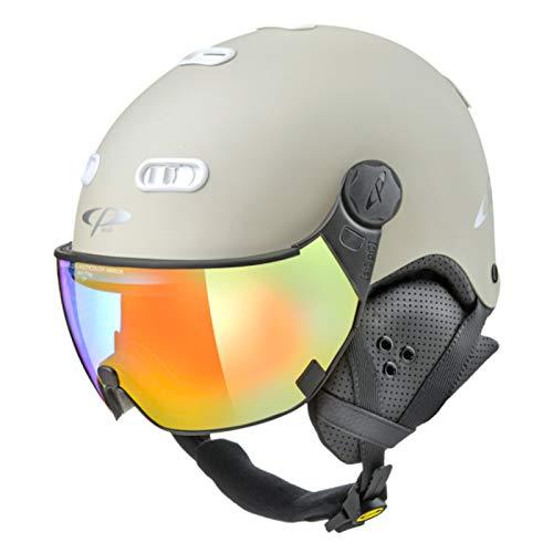 CP Carachillo Visierhelm stonewhite mc Mirror Skihelm Snowboardhelm 53 cm - 55 cm 2020