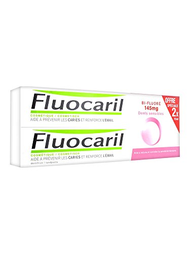 Fluocaril Toothpaste for Sensitive Teeth - Tooth Decay - Strong Enamel 2 Pack