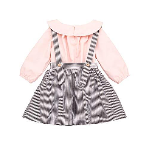 Fartido Kid Baby Girl Lemon Cartoon Print Bowknot Casual Princess Dress Clothes
