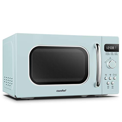 COMFEE' AM720C2RA-G Retro Style Countertop Microwave Oven