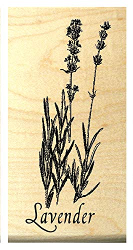 Lavender Flowers Rubber Stamp WM P55