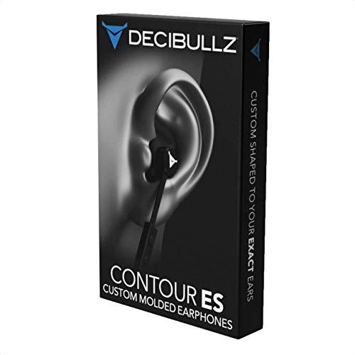 DecibullzIn-Ear-Kopfhörer Contour ES, individuell anpassbar, passt sich einfach und schnell an Ihre Ohren an, Schwarz