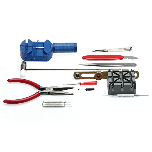 Generic 6955170801480 Neu 16pcs Deluxe Uhr Öffner Werkzeug Kit Reparatur Pin Remover