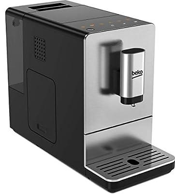Beko 8813513200 Compact CEG5301X Bean to Cup Coffee Machine, 19 Bar Pressure-Stainless Steel